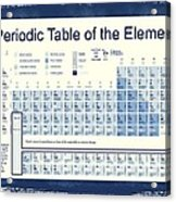 Vintage Periodic Table Of The Elements Acrylic Print by Dan Sproul
