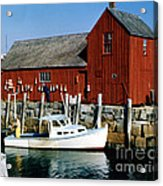 Fishing In Rockport Maine 1970's Acrylic Print