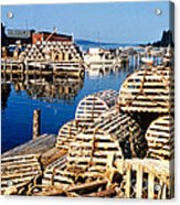 Lobster Traps In Maine Acrylic Print