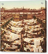 Vintage Photo Of Washing Day In New York City 1900 Acrylic Print