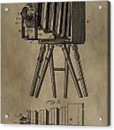 Vintage Photographic Camera Patent Acrylic Print