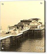 Vintage Pier At Dawn Acrylic Print