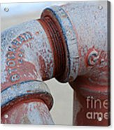 Vintage Pipe Recycled  Acrylic Print