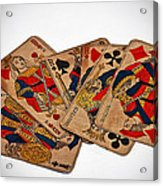 Vintage Playing Cards Art Prints Acrylic Print
