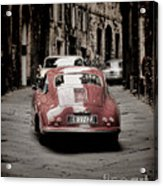 Vintage Porsche Acrylic Print by Karen Lewis