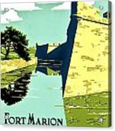 Vintage Poster - Fort Marion Acrylic Print