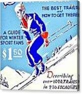 Vintage Poster - Sports - Skiing Acrylic Print