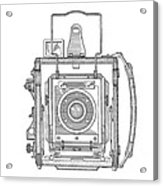 Vintage Press Camera Patent Drawing Acrylic Print