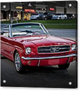 Vintage Red 1966 Ford Mustang V8 Convertible  E48 Acrylic Print