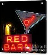 Vintage Red Barn Neon Sign Las Vegas Acrylic Print