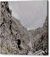 Vintage Rio Grande Royal Gorge By Lynn Bramkamp Acrylic Print