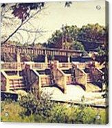 Vintage River Dam Acrylic Print