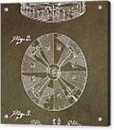 Vintage Roulette Wheel Patent Acrylic Print