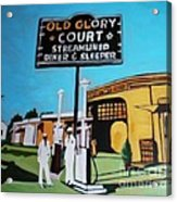 Vintage Route 66 Diner Sleeper Acrylic Print