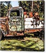 Vintage Rusty Old Truck 1940 Acrylic Print