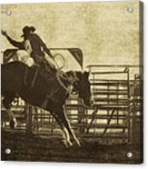 Vintage Saddle Bronc Riding Acrylic Print