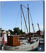 Vintage Sailing Boat - Ct Acrylic Print