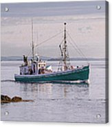 Vintage Sardine Carrier Michael Eileen Acrylic Print