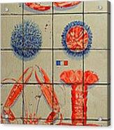 Vintage Seafood Sign 3 Acrylic Print