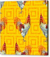 Vintage Seamless Pattern With Farm Acrylic Print