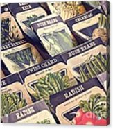 Vintage Seed Packages Acrylic Print by Edward Fielding