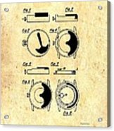 Vintage Self-winding Watch Movement Patent Acrylic Print