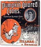 Vintage Sheet Music Cover Circa 1896 Acrylic Print by M Witmmark and Sons