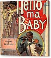 Vintage Sheet Music Cover Circa 1900 Acrylic Print