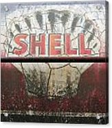 Vintage Shell Oil Rail Tanker Car Acrylic Print