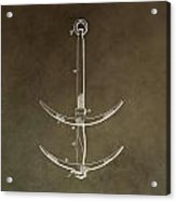 Vintage Ship's Anchor Patent Acrylic Print