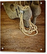Vintage Shoes And Pearls Acrylic Print