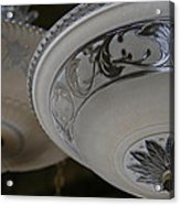 Vintage Silver And Glass Lighting Fixture Acrylic Print
