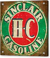 Vintage Sinclair Gasoline Sign Acrylic Print