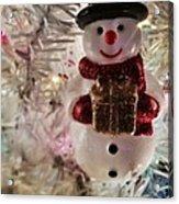 Vintage Snowman Acrylic Print