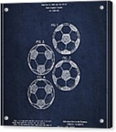 Vintage Soccer Ball Patent Drawing From 1964 Acrylic Print