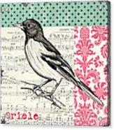 Vintage Songbird 2 Acrylic Print by Debbie DeWitt