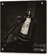 Vintage Spark Plug   4 Acrylic Print by Wilma  Birdwell