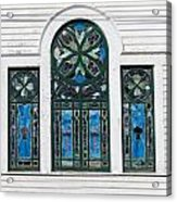 Vintage Stained Glass Windows Acrylic Print