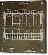 Vintage Starting Gate Patent Acrylic Print