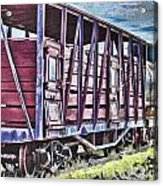 Vintage Steam Locomotive Carriages Acrylic Print
