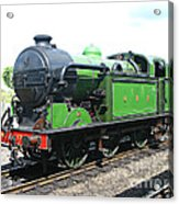 Vintage Steam Train In Green  Acrylic Print