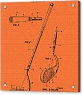 Vintage Stecher Gold Club Patent - 1960 Acrylic Print