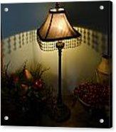 Vintage Still Life And Lamp Acrylic Print