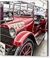 Vintage Studebaker Fire Engine Acrylic Print by Douglas Barnard