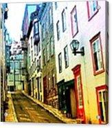 Vintage Style City Street Scene Photograph Acrylic Print