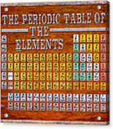 vintage style periodic table of elements acrylic print - Periodic Table Of Elements Vintage