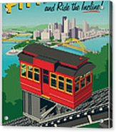 Pittsburgh Poster - Incline Acrylic Print