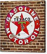 Vintage Texaco Gasoline Sign Dsc07195 Acrylic Print