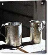Vintage Tin Cups Acrylic Print