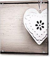 Vintage Tin Heart Acrylic Print by Jane Rix